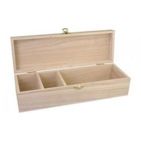 Coffret en bois avec verrou