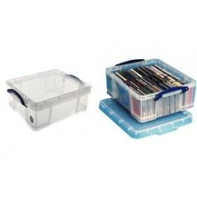 Boîte de rangement 18 Litres incolore - Really Useful Box | Boîtes avec Couvercle