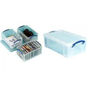 Boîte de rangement 9 Litres incolore - Really Useful Box   Boîtes avec Couvercle