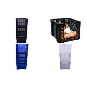 Corbeille de rangement 35 litres noir - Really Useful Box | Corbeilles de Rangement