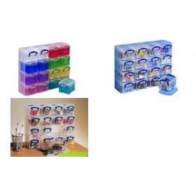 Organiseur de 16 boîtes de 0,14 litre - Really Useful Box   Boîtes avec Couvercle