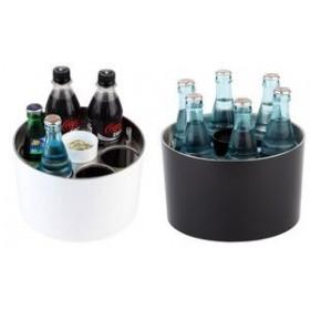 APS Refroidisseur de bouteilles de conférence, argent/noir