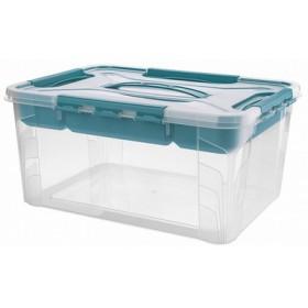 Bac de rangement 15,3 L hubert & hilda avec insert Vert d'eau - Keeeper - Keeeper   Bacs de Rangement