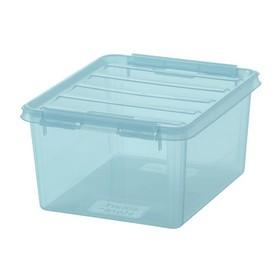 Boîte de rangement COLOUR 2 Bleue 2 Litres - Smarstore - Boîtes avec Couvercle