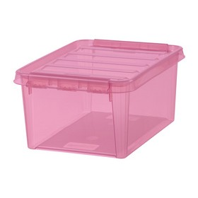 Boîte de rangement COLOUR 10 Rose 8 Litres - Smarstore - Boîtes avec Couvercle