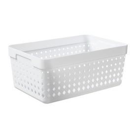 Corbeille de rangement SEOUL ORGANIZER XL blanc - Plast Team - Corbeilles de Rangement