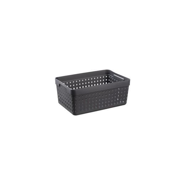 Corbeille de rangement SEOUL ORGANIZER XL noir - Plast Team | Corbeilles de Rangement