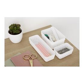 Corbeille de rangement SEOUL ORGANIZER M rose - Plast Team | Corbeilles de Rangement