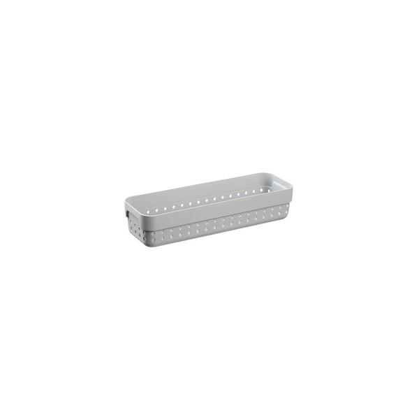 Corbeille de rangement SEOUL ORGANIZER M gris clair - Plast Team | Corbeilles de Rangement