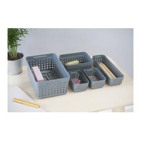 Corbeille de rangement SEOUL ORGANIZER L gris clair - Plast Team | Corbeilles de Rangement