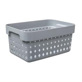 Bac de rangement SEOUL BASKET S gris foncé - Plast Team - Bacs de Rangement