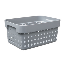 Bac de rangement SEOUL BASKET S gris foncé - Plast Team | Bacs de Rangement