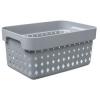 Bac de rangement SEOUL BASKET S gris foncé - Plast Team   Bacs de Rangement