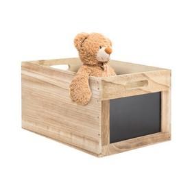 Caisse en bois Tablecaddy avec 2 ardoises - Securit | Boîtes de Rangement Bois