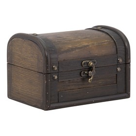 Petit Coffre au trésor Treasure Antique en bois - Securit | Boîtes de Rangement Bois