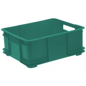 Caisse de rangement Euro-Box XL bruno 100% recyclé vert - Keeeper | Caisses de Rangement