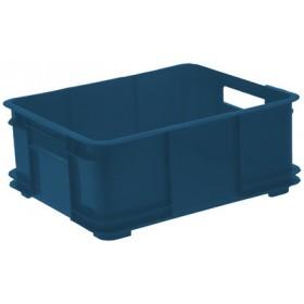 Caisse de rangement Euro-Box XL bruno 100% recyclé bleu - Keeeper | Caisses de Rangement