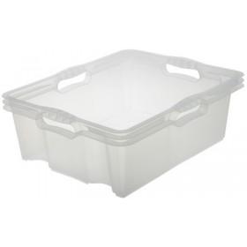 Boîte de rangement franz 16 litres naturel - Keeeper | Boîtes en Plastique