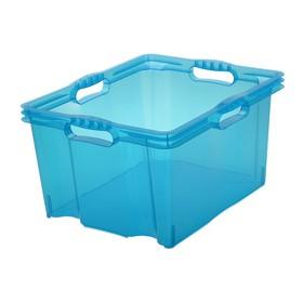Boîte de rangement franz 24 litres bleu - Keeeper | Boîtes en Plastique