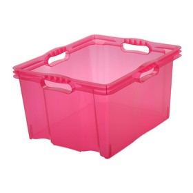 Boîte de rangement franz 24 litres rose - Keeeper | Boîtes en Plastique