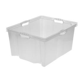 Boîte de rangement franz 44 litres naturel - Keeeper | Boîtes en Plastique