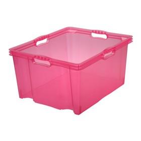 Boîte de rangement franz 44 litres rose - Keeeper | Boîtes en Plastique