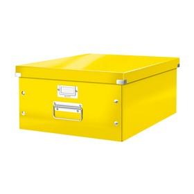 Boîte de rangement en Carton Click & Store WOW A3 jaune - Leitz | Boîtes de Rangement Carton