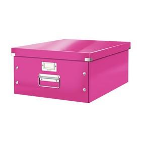 Boîte de rangement en Carton Click & Store WOW A3 rose - Leitz | Boîtes de Rangement Carton