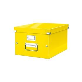 Boîte de rangement en Carton Click & Store WOW A4 jaune - Leitz - Boîtes de Rangement Carton