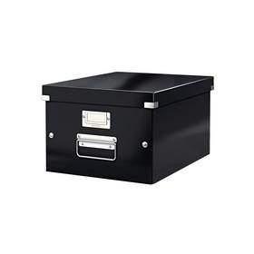 Boîte de rangement en Carton Click & Store WOW A4 noir - Leitz - Boîtes de Rangement Carton