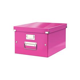 Boîte de rangement en Carton Click & Store WOW A4 rose - Leitz - Boîtes de Rangement Carton