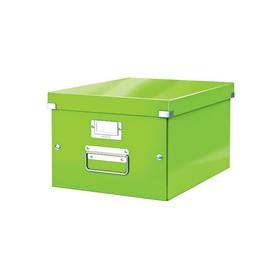 Boîte de rangement en Carton Click & Store WOW A4 vert - Leitz - Boîtes de Rangement Carton