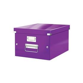 Boîte de rangement en Carton Click & Store WOW A4 violet - Leitz - Boîtes de Rangement Carton