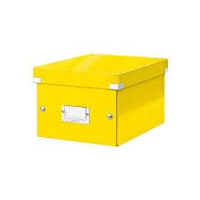 Boîte de rangement en Carton Click & Store WOW A5 jaune - Leitz - Boîtes de Rangement Carton