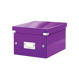 Boîte de rangement en Carton Click & Store WOW A5 violet - Leitz - Boîtes de Rangement Carton