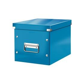 Boîte de rangement en Carton Click & Store WOW Cube L bleu - Leitz | Boîtes de Rangement Carton