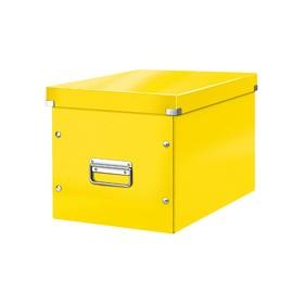 Boîte de rangement en Carton Click & Store WOW Cube L jaune - Leitz | Boîtes de Rangement Carton