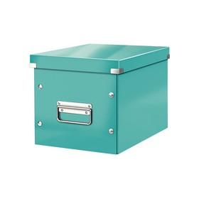 Boîte de rangement en Carton Click & Store WOW Cube L menthe - Leitz | Boîtes de Rangement Carton