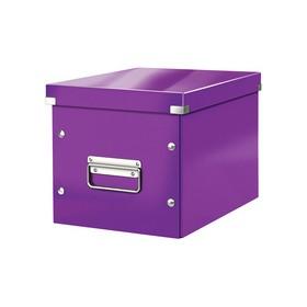 Boîte de rangement en Carton Click & Store WOW Cube L violet - Leitz | Boîtes de Rangement Carton