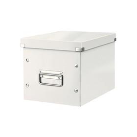 Boîte de rangement en Carton Click & Store WOW Cube M blanc - Leitz | Boîtes de Rangement Carton