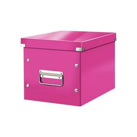 Boîte de rangement en Carton Click & Store WOW Cube M rose - Leitz | Boîtes de Rangement Carton