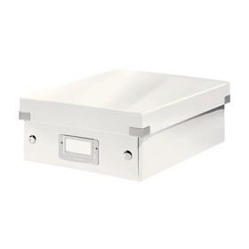 Boîte de rangement carton à compartiment Click & Store WOW blanc - Leitz | Boîtes de Rangement Carton