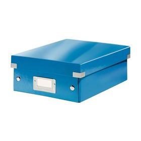 Boîte de rangement carton à compartiment Click & Store WOW bleu - Leitz | Boîtes de Rangement Carton