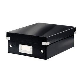 Boîte de rangement carton à compartiment Click & Store WOW noir - Leitz | Boîtes de Rangement Carton