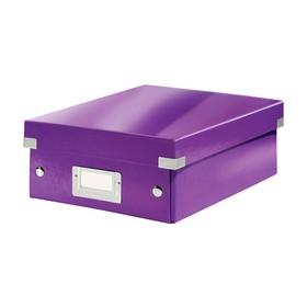 Petite Boîte de rangement à compartiment Click & Store WOW violet - Leitz | Boîtes de Rangement Carton