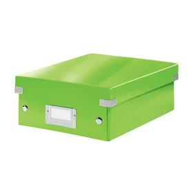 Petite Boîte de rangement à compartiment Click & Store WOW vert - Leitz | Boîtes de Rangement Carton