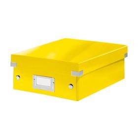Petite Boîte de rangement à compartiment Click & Store WOW jaune - Leitz | Boîtes de Rangement Carton