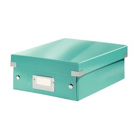 Petite Boîte de rangement à compartiment Click & Store WOW menthe - Leitz | Boîtes de Rangement Carton