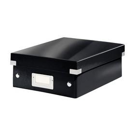 Petite Boîte de rangement à compartiment Click & Store WOW noir - Leitz | Boîtes de Rangement Carton