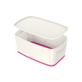 Boîte de rangement My Box 5 litres blanc / rose - Leitz | Boîtes avec Couvercle